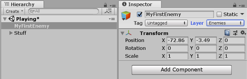 Depicting Layers in Inspector